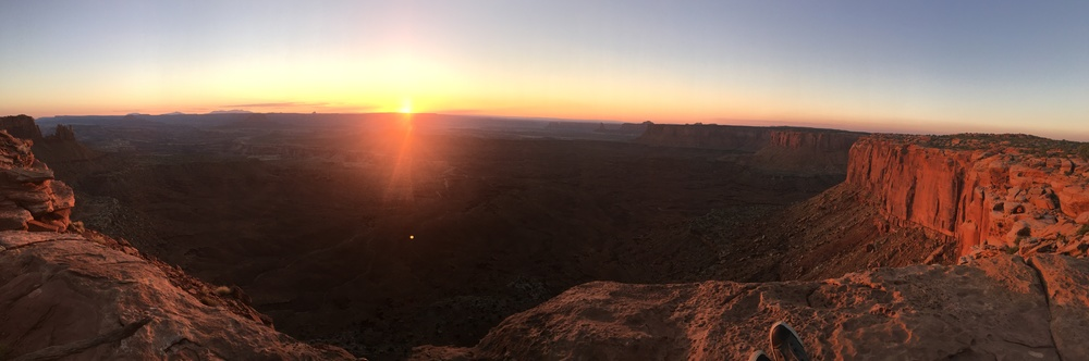 Sunset view from atop Canyonlands National Park